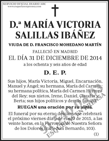 María Victoria Salillas Ibáñez